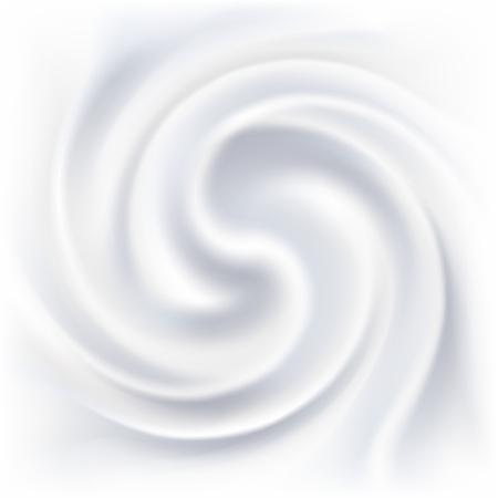 抽象的な白いクリームの渦巻き背景。  イラスト・ベクター素材