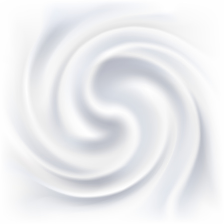 Abstract white cream swirl background.