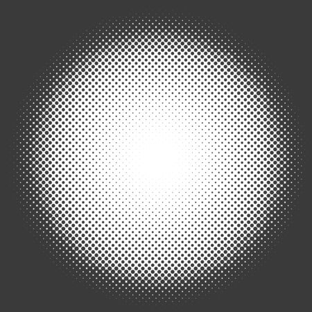 Black and white halftone circle template.