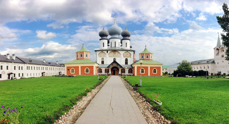 subsequently: The famous Russian Tikhvin Assumption Monastery, Leningrad region, Russian Federation. The monastery was founded in 1560 and was built as a fortress. In Time of Troubles it was occupied by Polish troops and subsequently Swedish forces until 1613.