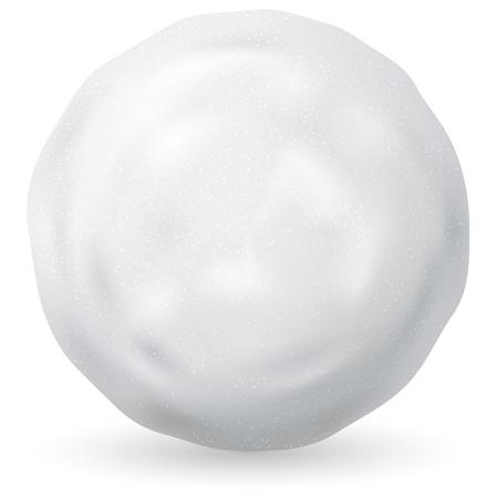 ilustración vectorial de bola de nieve blanca sobre fondo blanco. Invierno y símbolo de la Navidad. Ilustración de vector