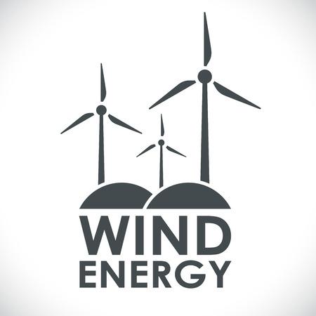 wind vane: Wind energy generation logo shape concept vector illustration. Black and white power company emblem.