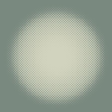 vintage frame vector: Yellow and green vintage colored halftone round frame vector background. Illustration