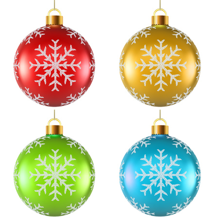 spattering: Color Christmas decoration with snowflake shape spattering on surface vector template.