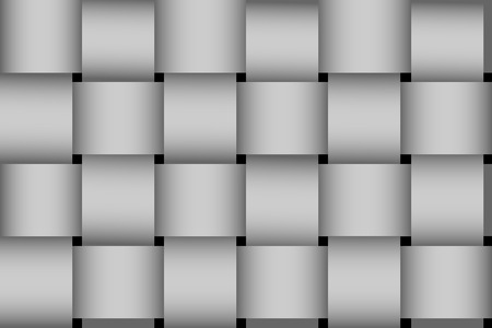greyscale: Seamless greyscale braided stripes vector pattern.