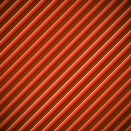 Abstract diagonal bumped stripes red vector background.