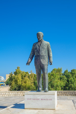 Eleftherios Venizelos Statue in Heraklion city, Crete, Greece.