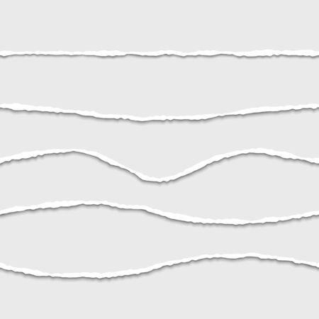 paper craft: estableció el borde del papel rasgado divisores inconsútil del vector.