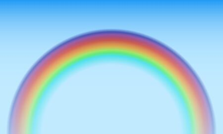 colourful sky: Colorful rainbow semicircle vector background.