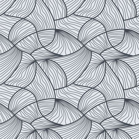 black art: Seamless abstract black and white line art vector background. Illustration
