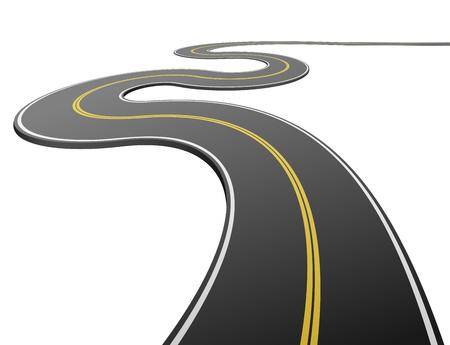 tarmac: Abstract asphalt road isolated Illustration