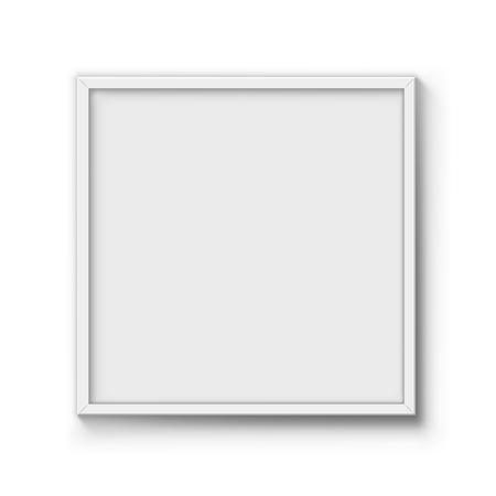 Blank Poster Frame Vector Template. Wall Picture White Casing ...