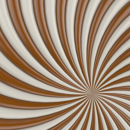 twist: Chocolate and milk candy twist background. 3D illustration.