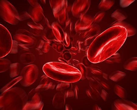 Red Blood Cells Flow Background. Scientific 3D Illustration.