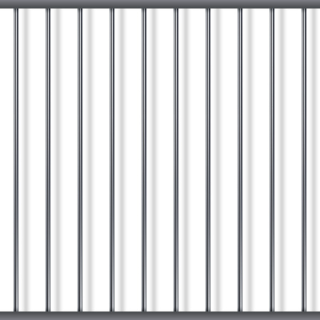 Prison Metal Bars Template with Replaceable Background. Vector Illustration.
