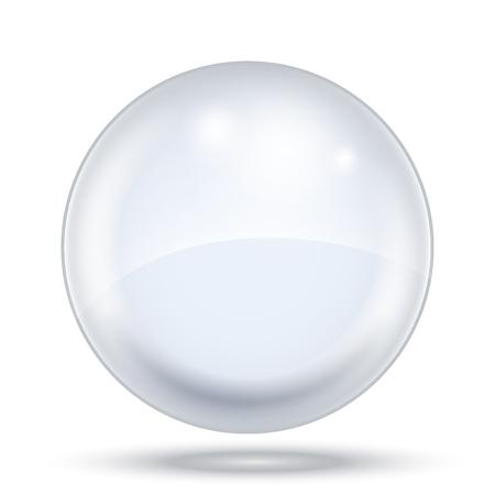 Große transparente Blasenschablone isoliert auf weißem Hintergrund. Vektor-Illustration.