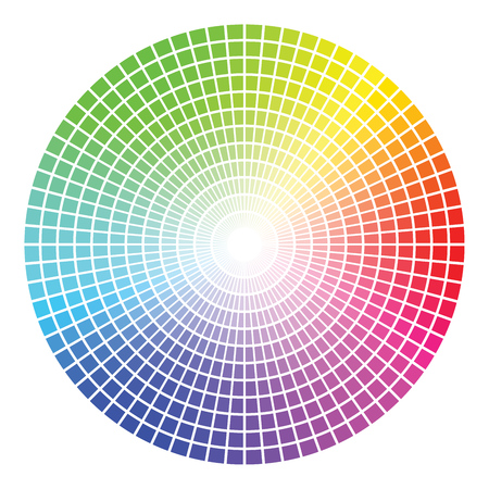 Color Wheel Vector Template Isolated on White Background. Ilustracja