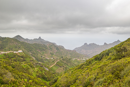Las Montanas de Anaga. Anaga Natural Park Green Mountains. Tenerife, Spain.