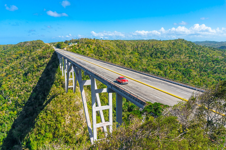 The Bridge of Bacunayagua. The Highest Bridge in Cuba Dividing La Habana and Matanzas Provinces. Imagens