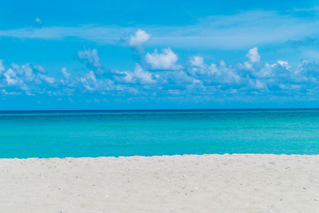 White sand beach background. Summer vacation backdrop. Varadero, Cuba.