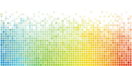 Abstract Rainbow Square Mosaic Vector Background. Colorful Creative Banner Design. Ilustração
