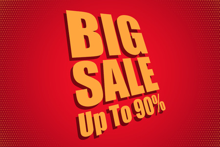 Big Sale Banner Template. Sale Advertising Design for Shop-window. Vector Illustration. Stock Illustratie