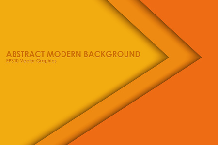 Yellow and Orange Modern Layered Background. Color Paper Cut Backdrop with Shadow. Vector Illustration.