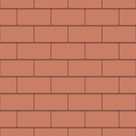 Seamless Clay Tile Roof Vector Pattern. Clay Roofing Background. Stock Illustratie
