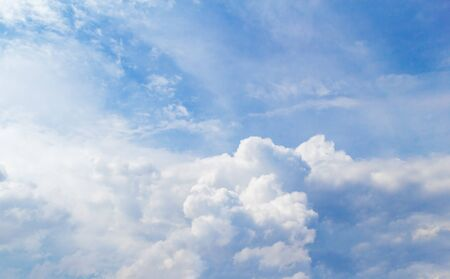 Cloudy Sky Background. Cumulus Clouds Backdrop.