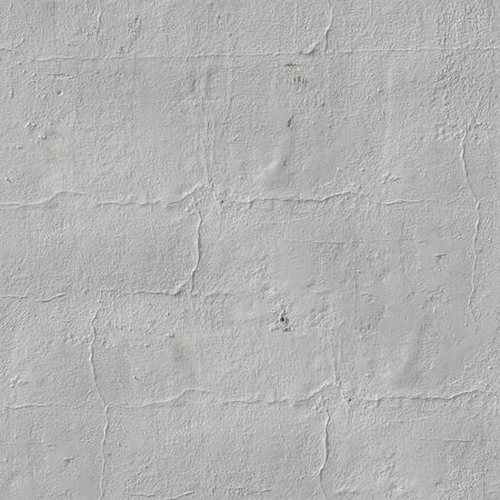 Seamless White Painted Stucco Wall Background. Tileable Wall Surface Backdrop.