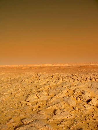 mars: krajobraz na czerwona planeta Mars Zdjęcie Seryjne