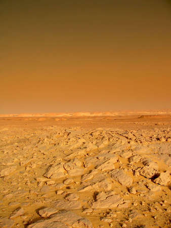 landscape on the red planet Mars