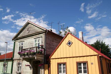 Oude houten gebouwen Stockfoto