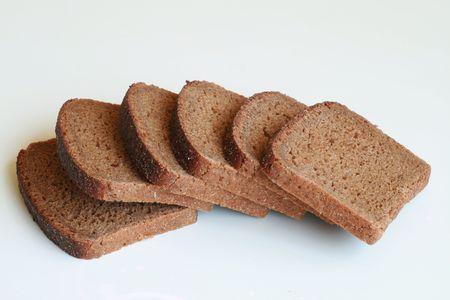Sliced black bread photo