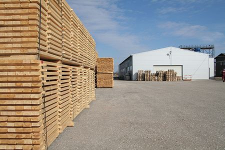 lumber and warehouse territory in perspective view Stock Photo - 860931