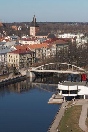 City center of Tartu in early springtime