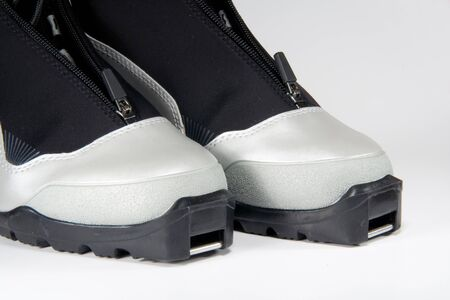 cross country: New modern gray cross country ski boots