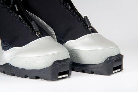 freeride: New modern gray cross country ski boots