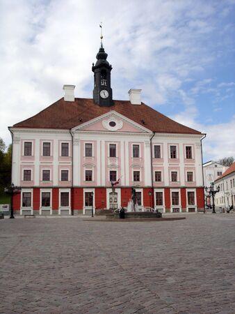 Old beautiful townhall in Tartu, Estonia photo