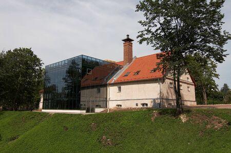 The Traditional Music Center, modern concert venue and a cultural centre in Viljandi, Estonia Stock Photo