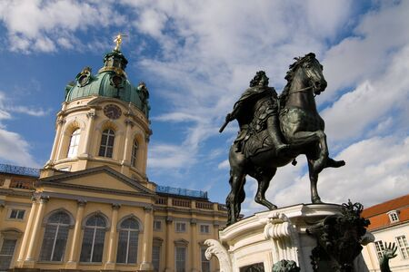 Charlottenburg Paleis in een wijk van Berlijn Duitsland