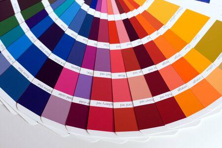 Abstracte achtergrond van kleur stalen af, kleur gidsen, close-up.