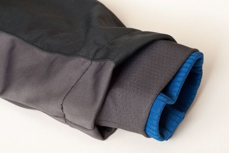 sport jacket sleeve detail with fleece inside Stock Photo