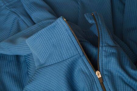 detail on new blue sport fleece jacket