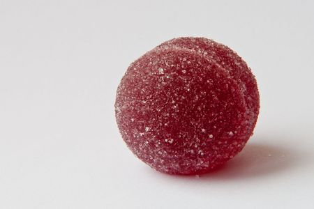 Colorful round shape fruit jelly sweets closeup