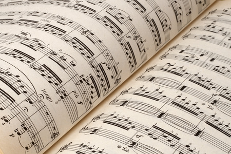 white music sheet, musical concept background