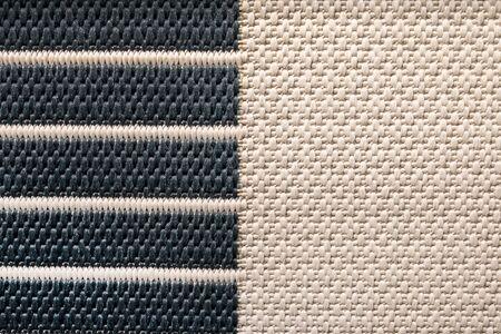 Black and white natural sisal matting surface,texture background. Reklamní fotografie
