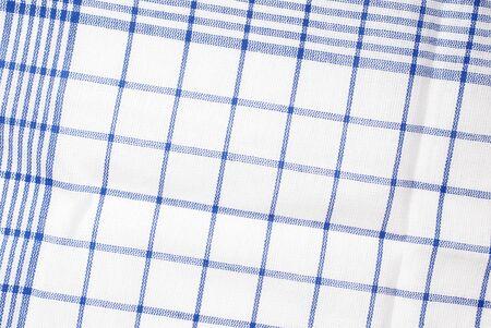 dishtowel: Detail of blue and white dishtowel. Stock Photo