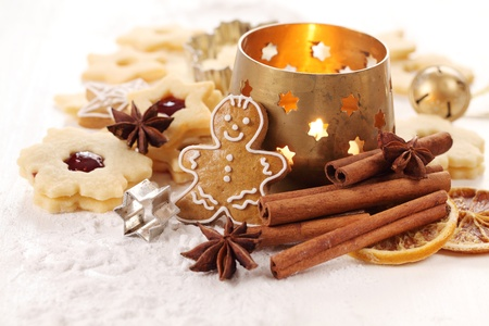 Christmas cookies and baking ingredients. Stock Photo - 20901799