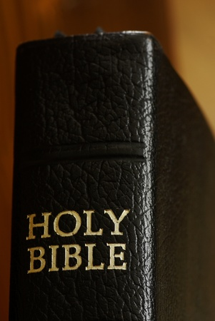 testaments: Close-up of Holy Bible